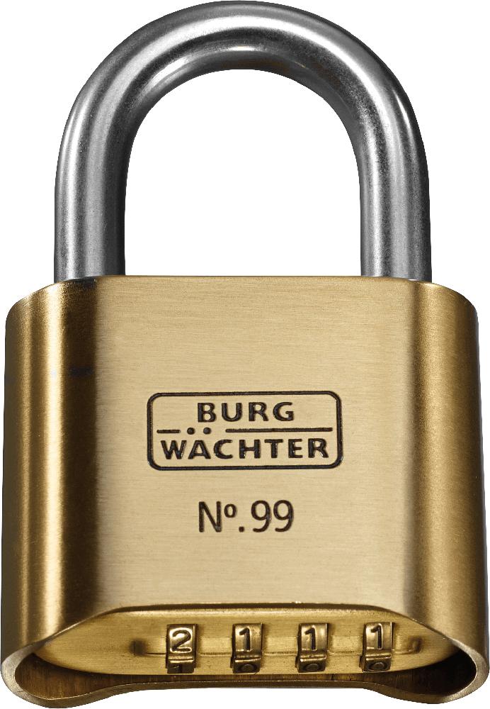 Lacat din alama, Burg Wachter 99 Ni 50 SB, l 50mm, cu cifru si cheie imagine MatHaus.ro