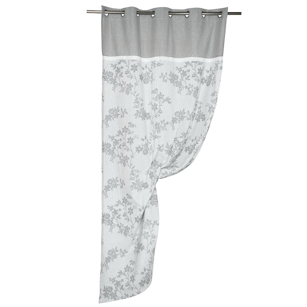 Draperie Romance, 100% bumbac, gri, 135 x 260 cm