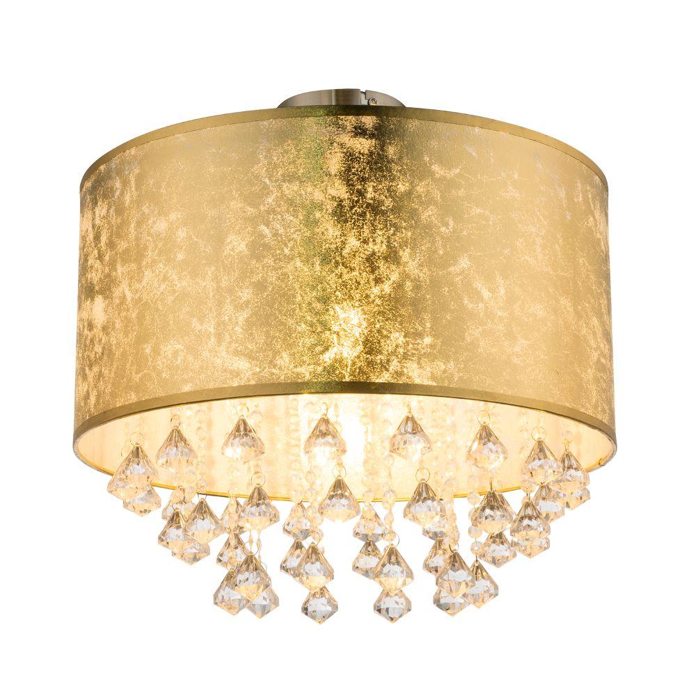 Plafoniera Amy I Cristal, auriu, 1 x E14, D 40 cm, H 38 cm, 60 W mathaus 2021