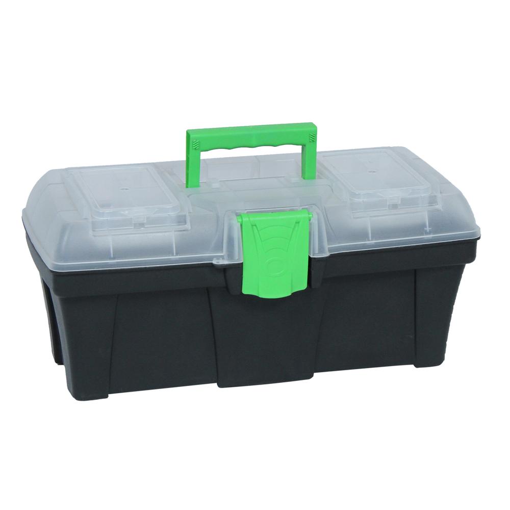 Cutie organizator plastic, verde, pentru unelte, 400x200mm