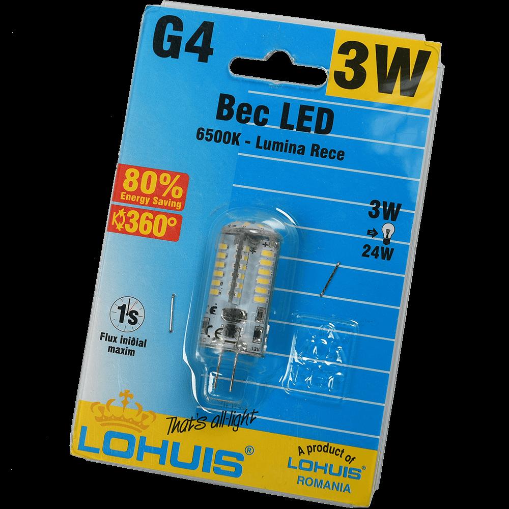 Bec Led Silicon G4 3W Lohuis Lumina Rece