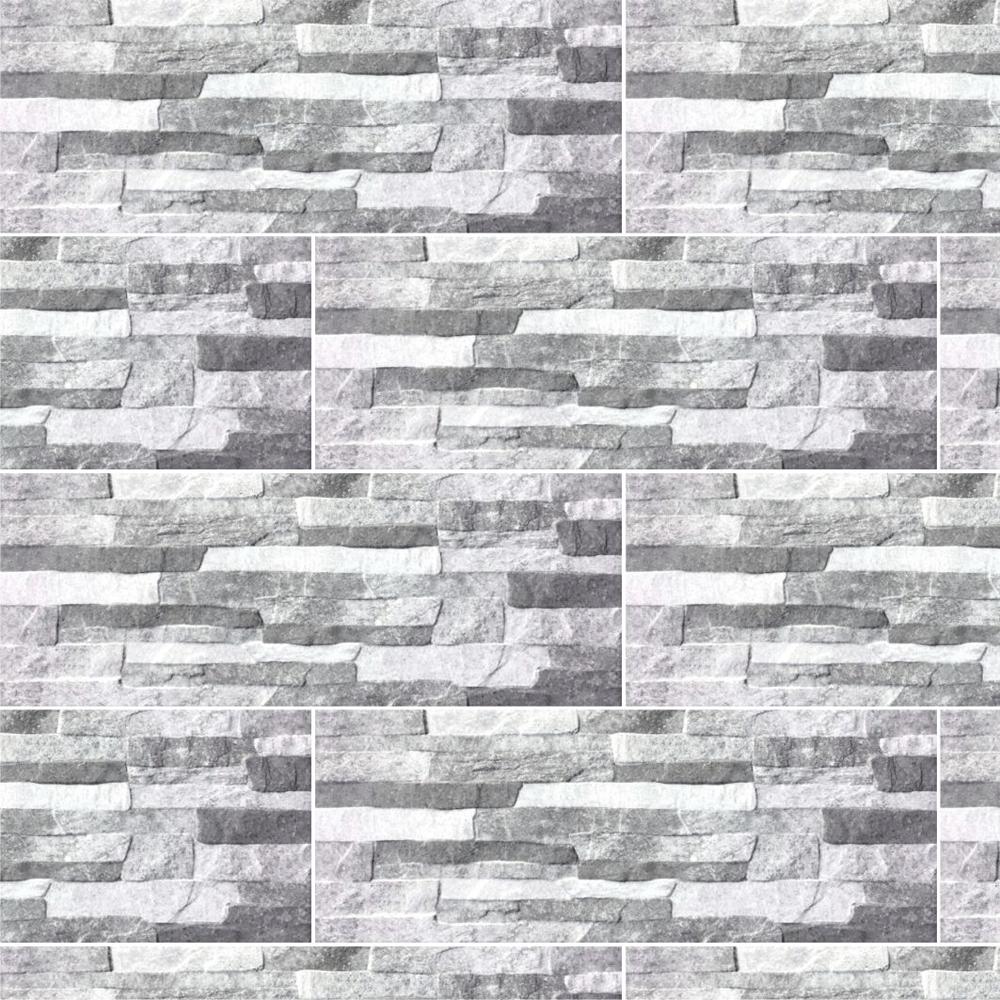 Placa portelanata Quarry Grey 21 x 56 cm, model digital mathaus 2021