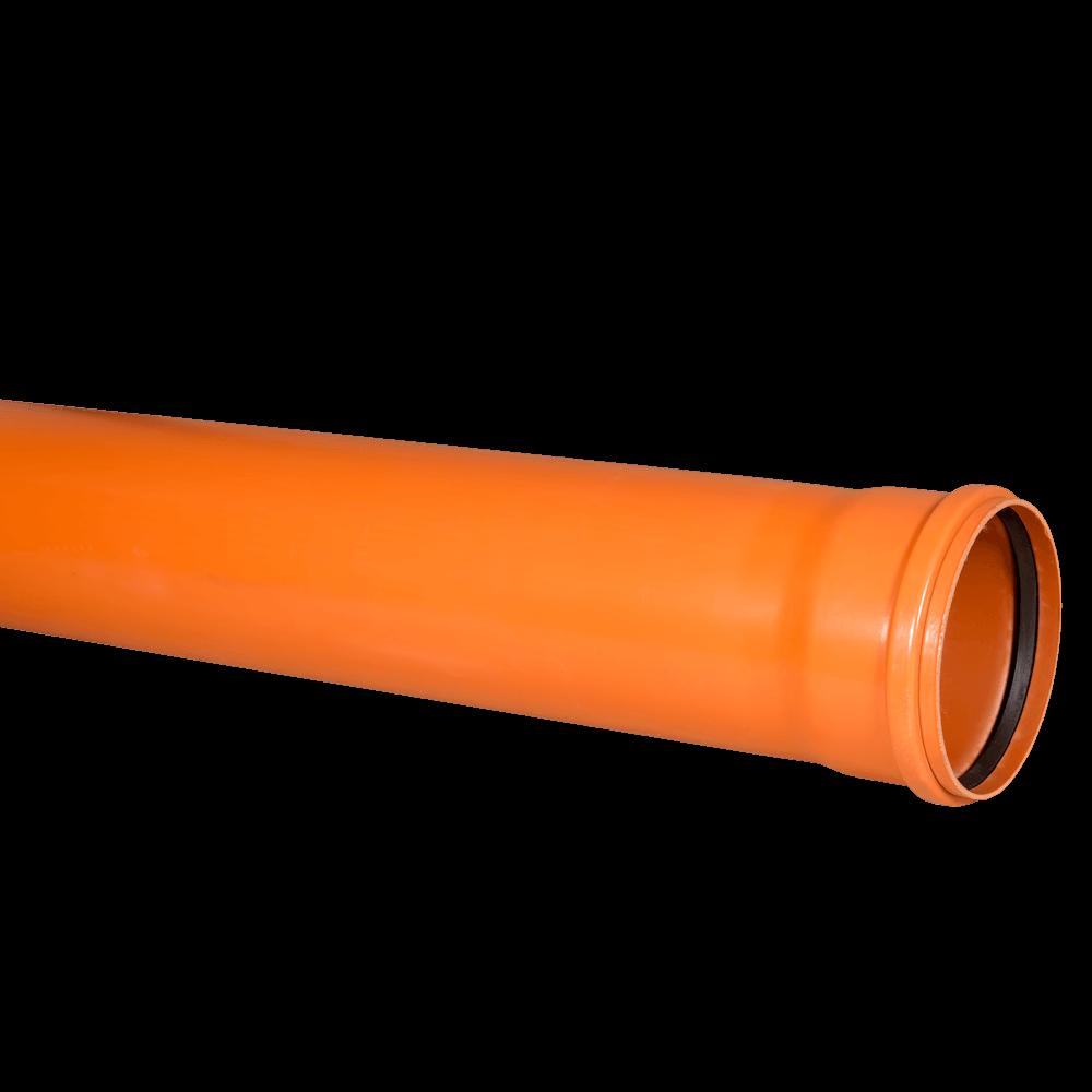 Conducta SN4 Valplast, PVC, portocaliu, diametru 160 mm, lungime 3 m mathaus 2021