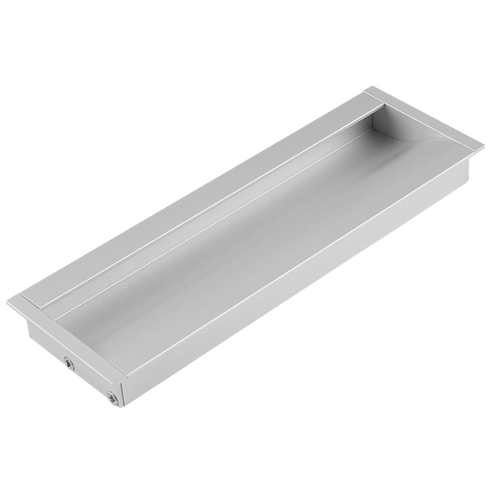 Maner ingropat cu terminatii din zamac FA 23676, aluminiu mat, 160 mm