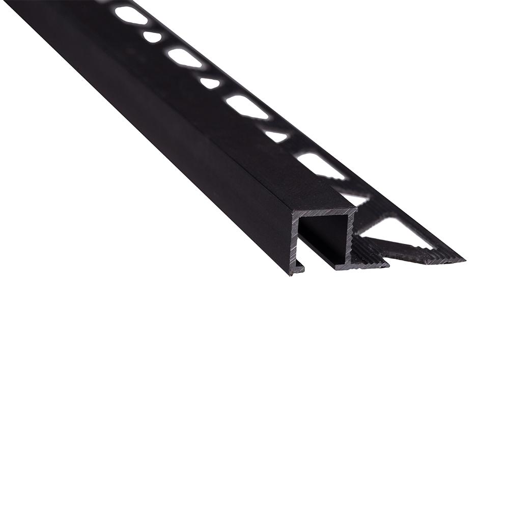 Profil de terminatie pentru parchet Set Prod S88 aluminiu, negru, 10 mm