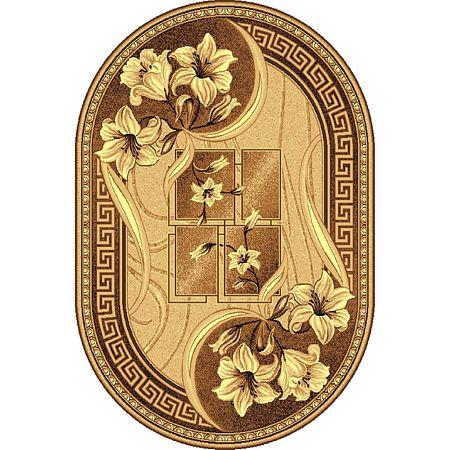 Covor clasic Gold 365/12 O, polipropilena BCF, bej-maro, 100 x 200 cm