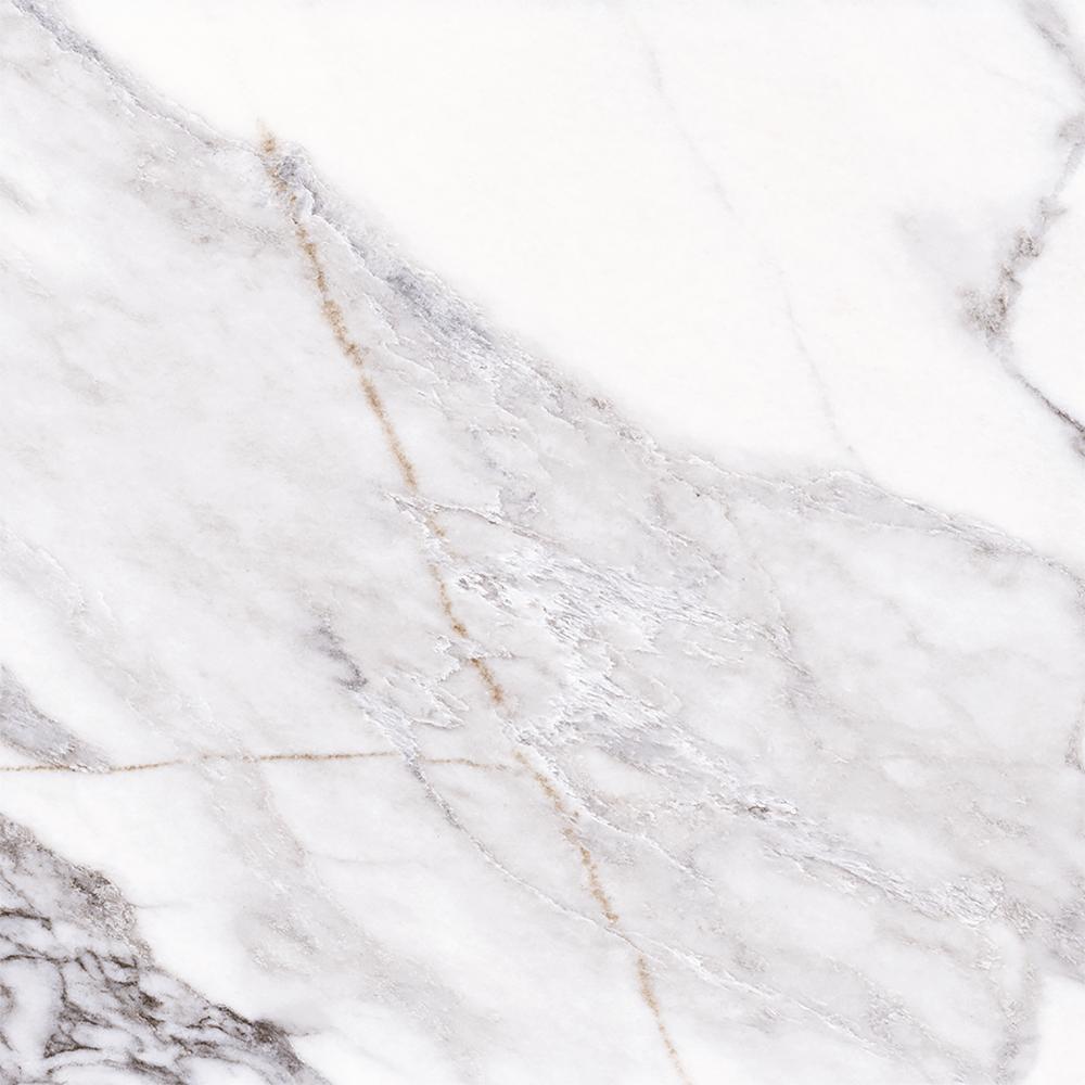 Gresie interior Paris, PEI 3, white & black, aspect marmura, patrata, 9 mm, 61 x 61 cm
