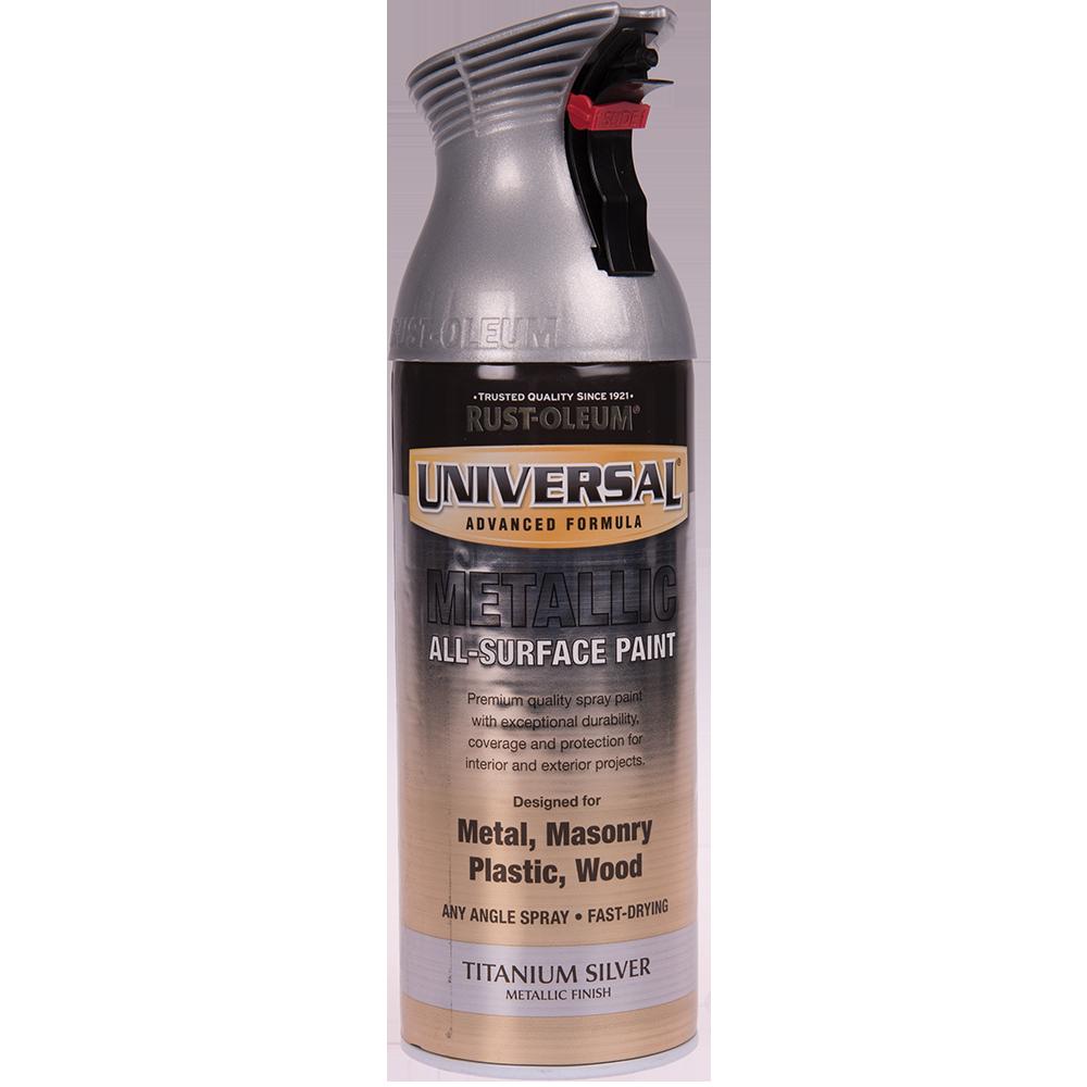 Spray Universal all-surface metal titan argintiu 400 ml imagine 2021 mathaus