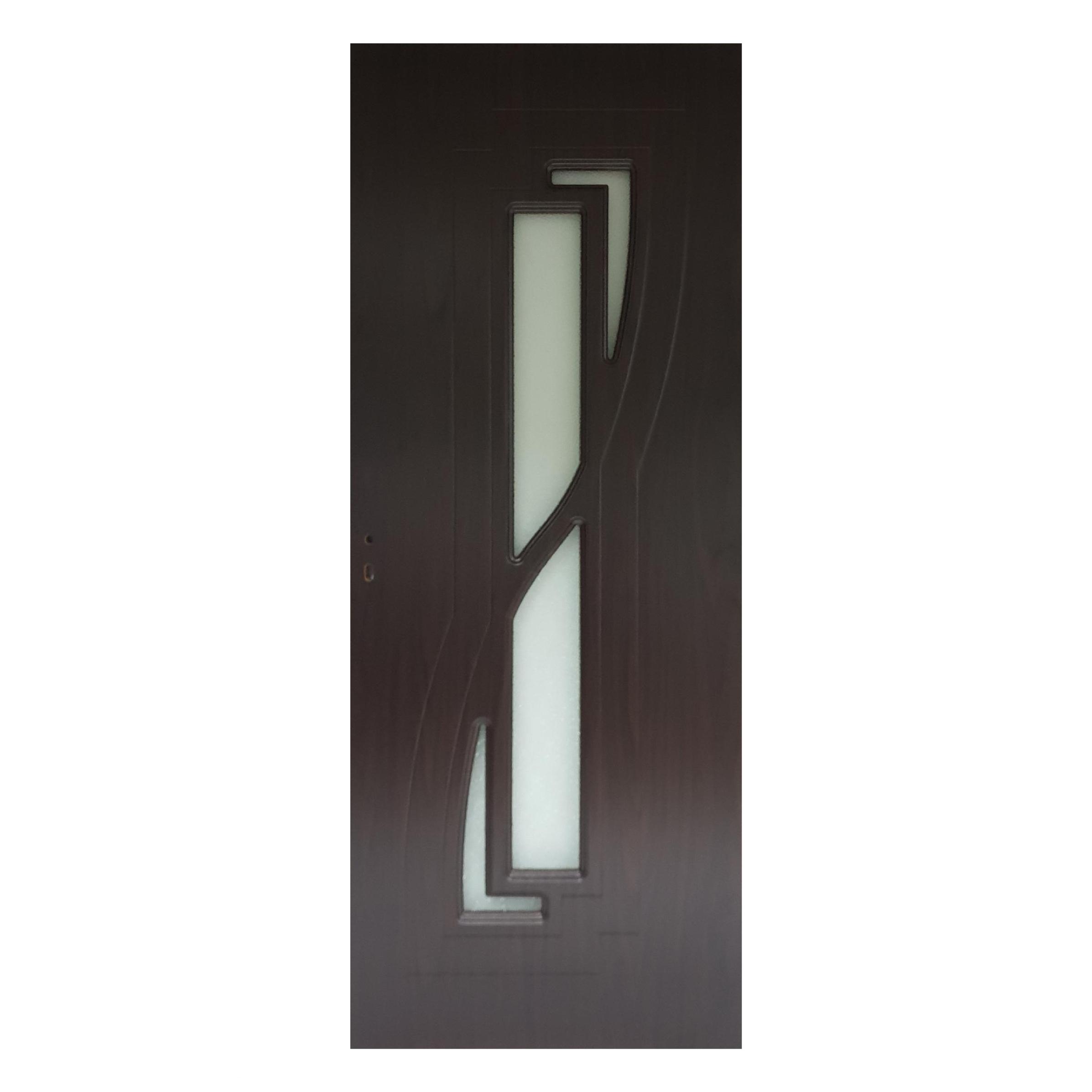 Usa interior cu geam Pamate M042, wenge, 203 x 70 x 3,5 cm + toc 10 cm, reversibila imagine MatHaus.ro
