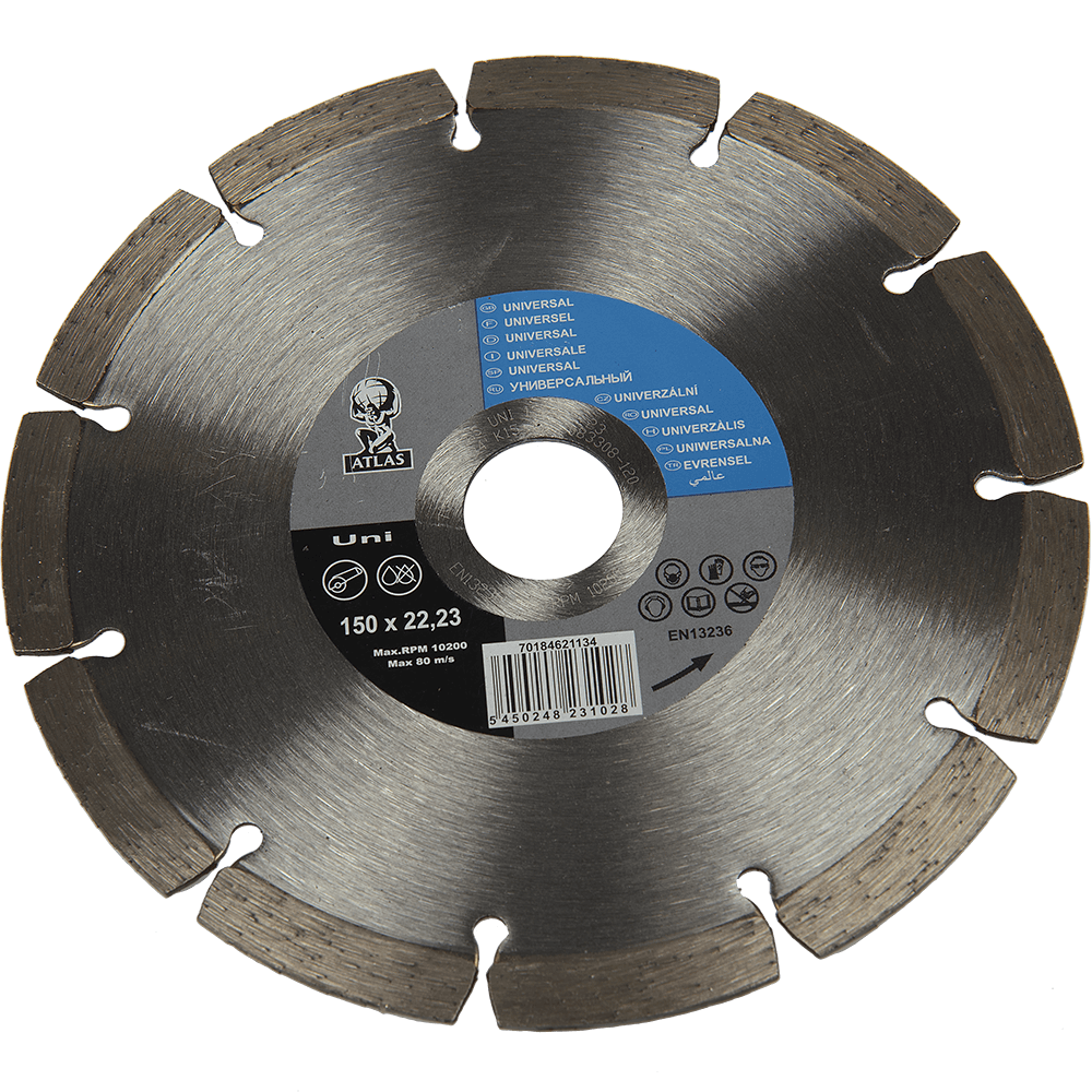 Disc diamantat universal, Atlas, 150 x 22.23 x 2.2 mm mathaus 2021