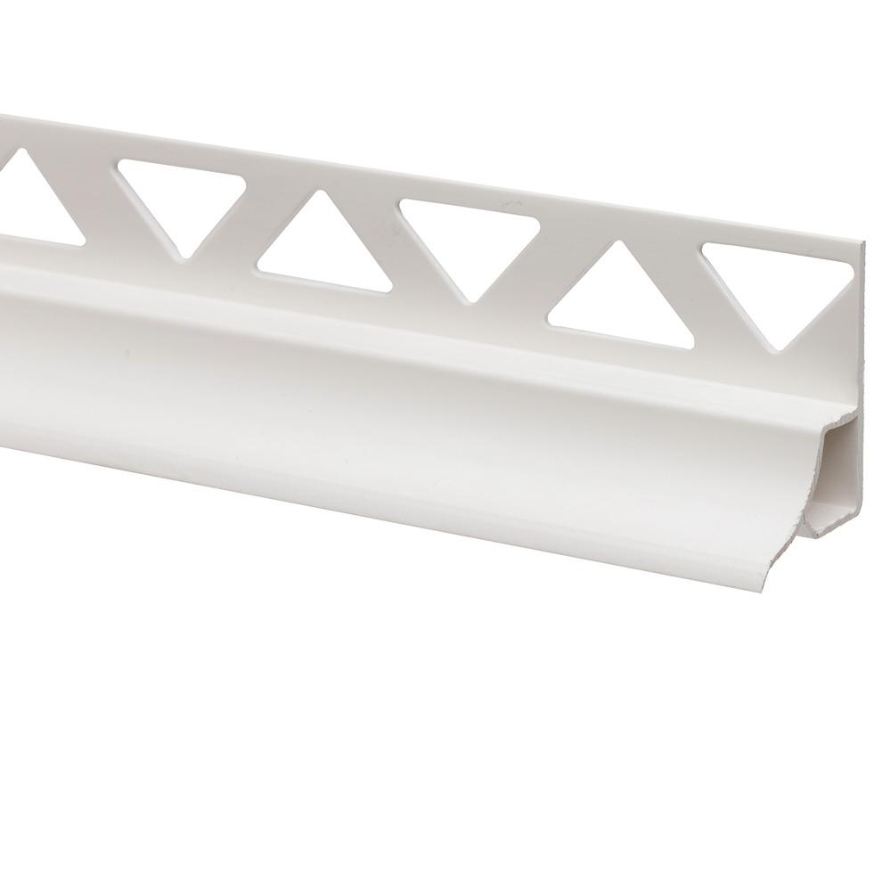 Profil colt pentru cada Profilplast din PVC moale, alb 101, 8 mm