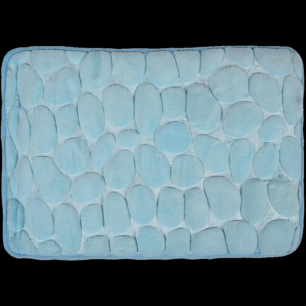 Covoras de baie, microfibra 100%, bleu, 40 x 60 cm
