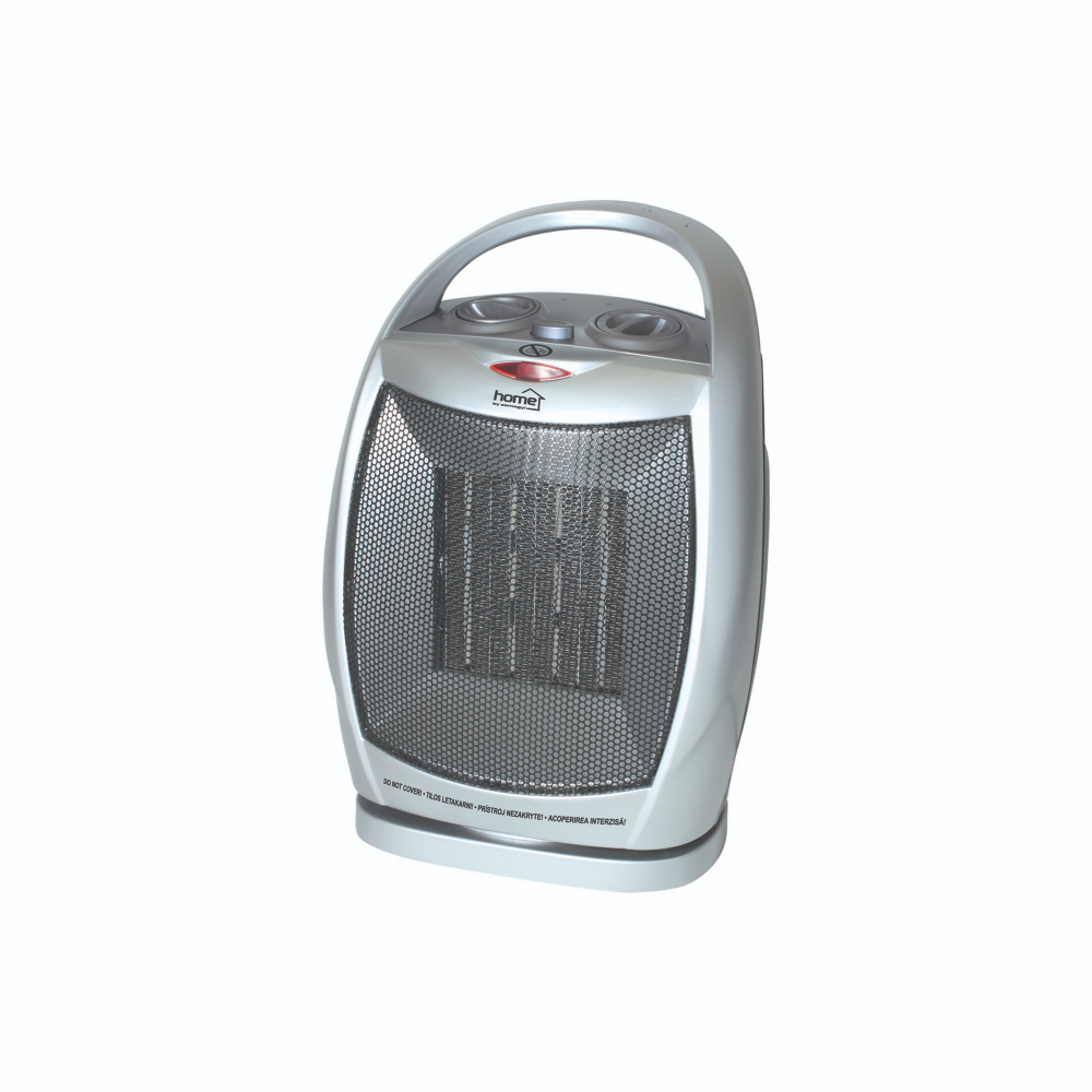 Radiator electric ceramic FK 11 Home by Somogyi, 1500 W, 2 trepte, termostat mecanic, oprire automata la rasturnare, IP20, 20 X 29 X 16 cm mathaus 2021