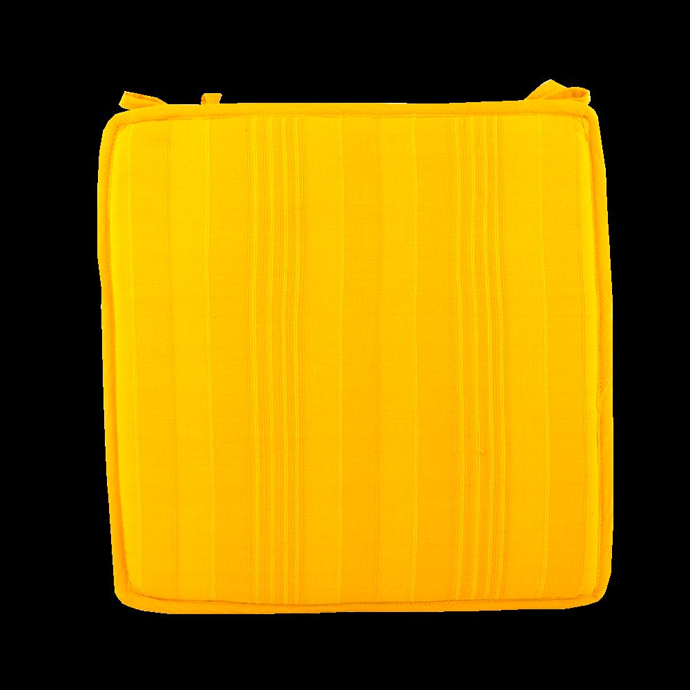 Perna decorativa pentru scaun Vision, patrata, 40 x 40 x 2 cm, galben