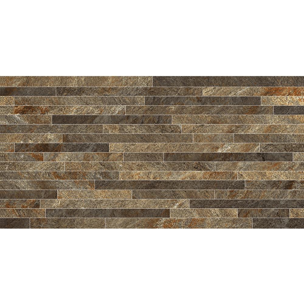 Gresie portelanata Keramin Montana 4 PEI 3, maro inchis mat, dreptunghiulara, textura in relief, 30 x 60 cm imagine 2021 mathaus