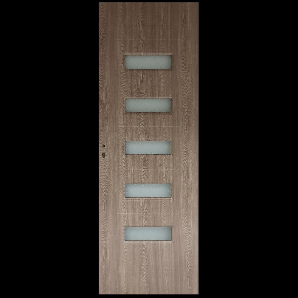 Usa de interior cu geam Pamate M104, gri, 200 x 80 cm + toc 10 cm