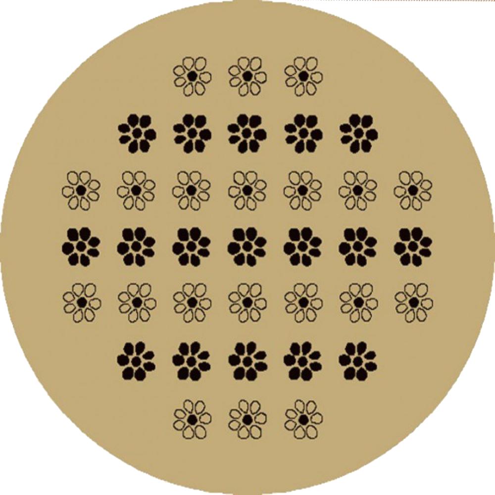Covor rotund Evrika 4342 607, polipropilena, model floral bej si negru, 180 cm mathaus 2021