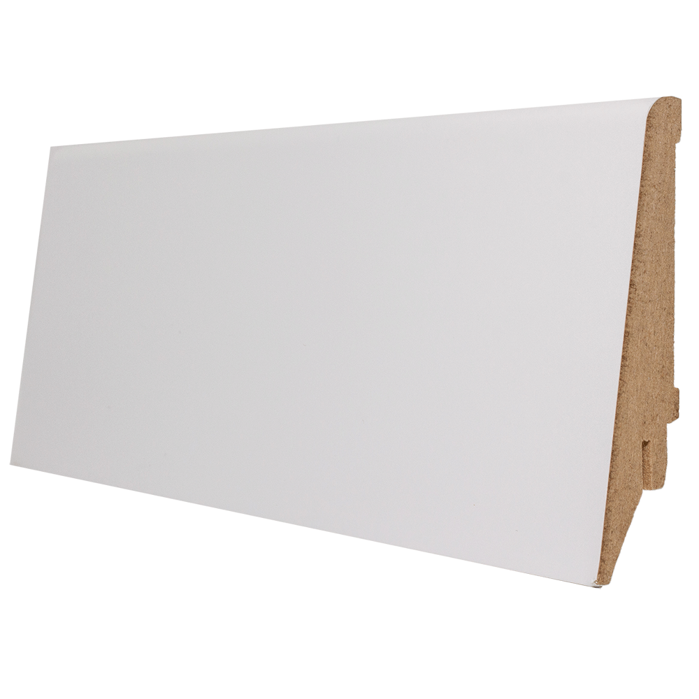 Plinta parchet, MDF, alb, 2800x80x21 mm imagine MatHaus