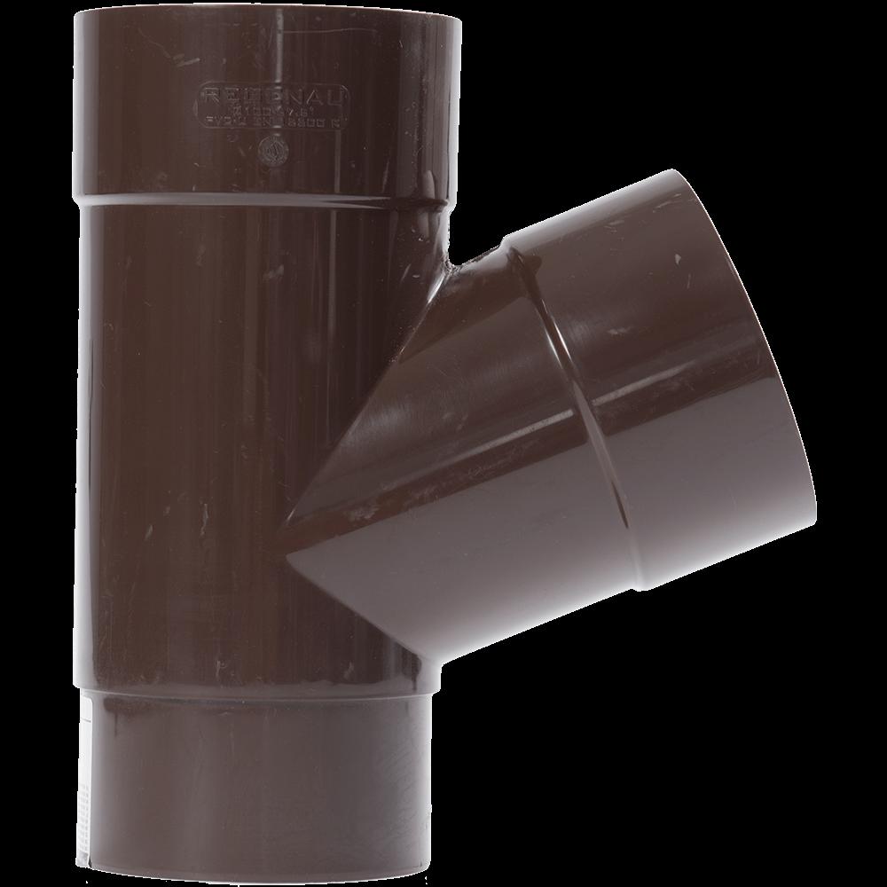 Ramificatie pentru burlan, PVC, D100 mm, maro imagine 2021 mathaus