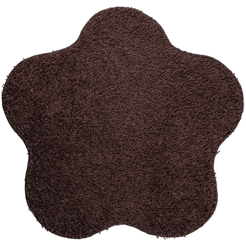 Covor modern Mistral, polipropilena, model floare maro 95, 80 cm
