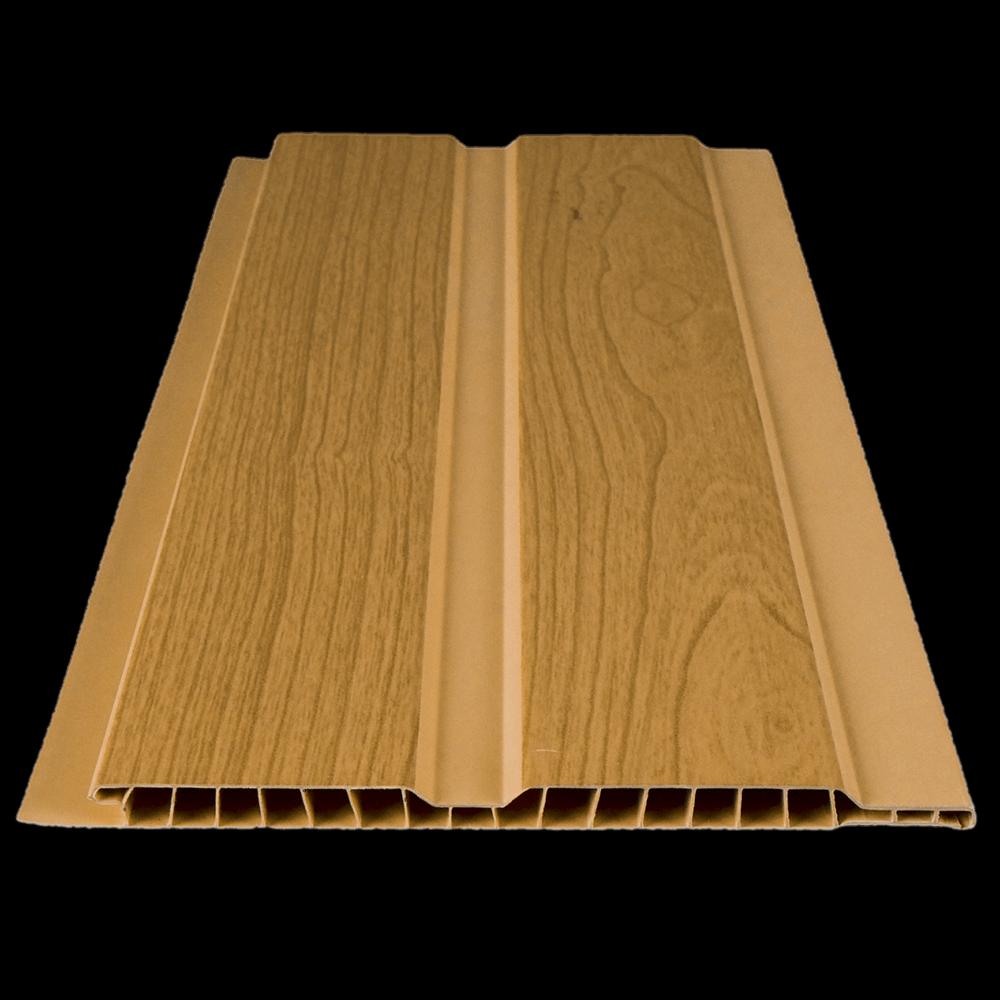 Lambriu PVC laminat, Helopal, stejar, 3000 x 125 x 8 mm
