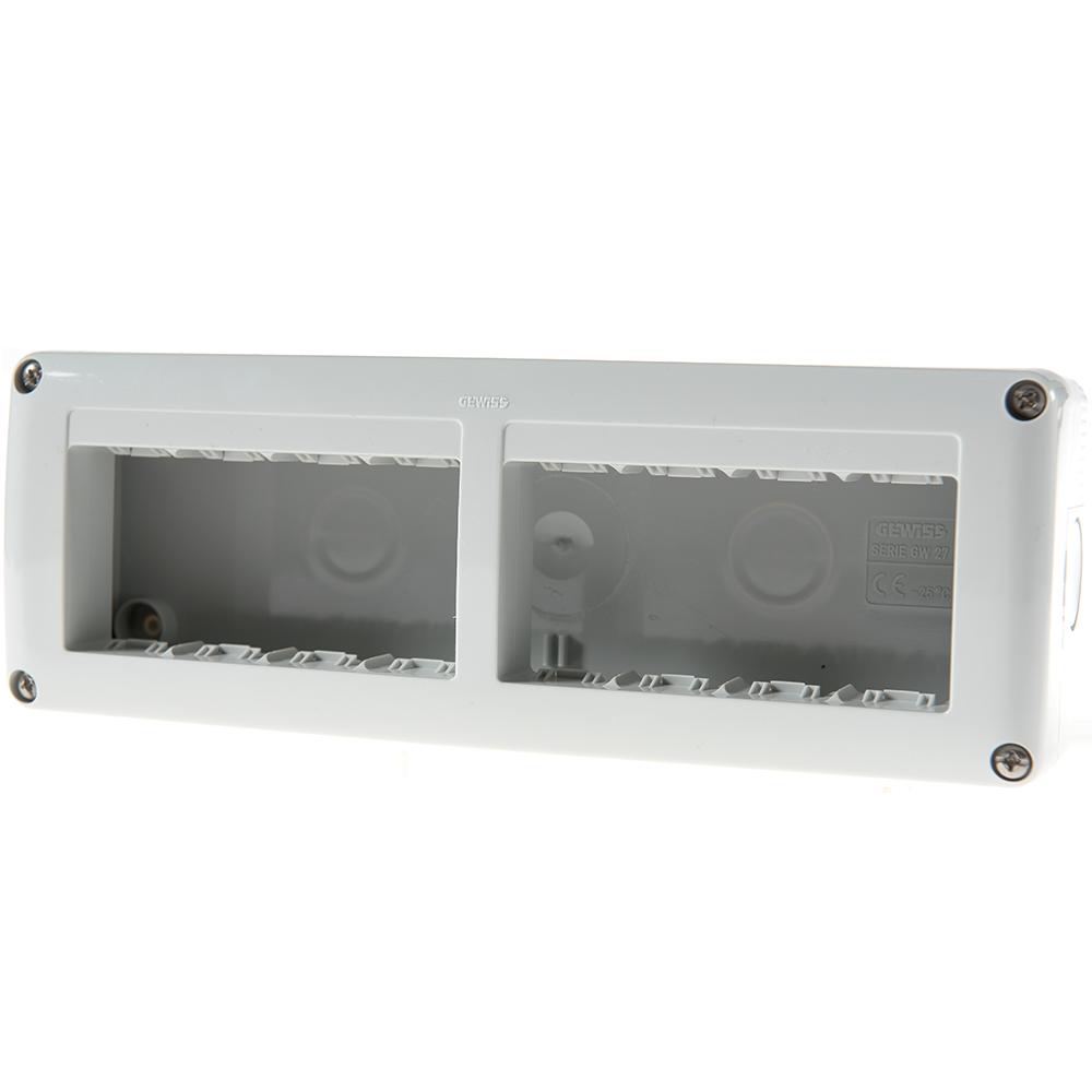 Carcasa montaj aparent Gewiss GW27006, 8 module, IP40, 231 x 82 x 55 mm imagine MatHaus.ro