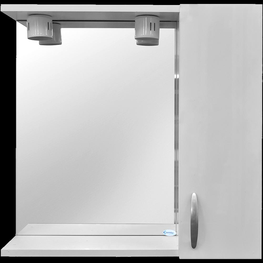 Oglinda baie Savini Due model 961, 2 becuri,  MDF, alb