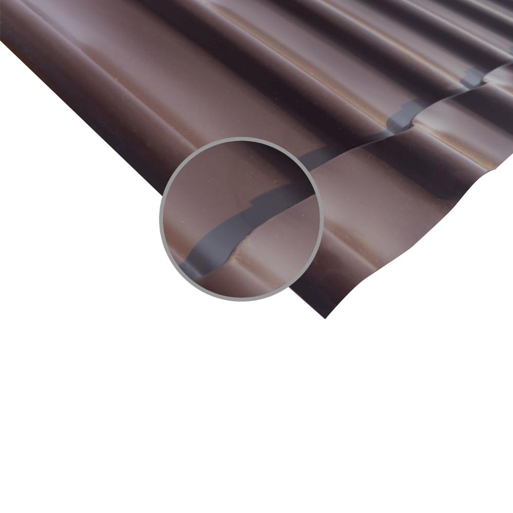 Tigla metalica maro RAL 8017, grosime 0,4 mm, 1,190 x 1,170 m mathaus 2021