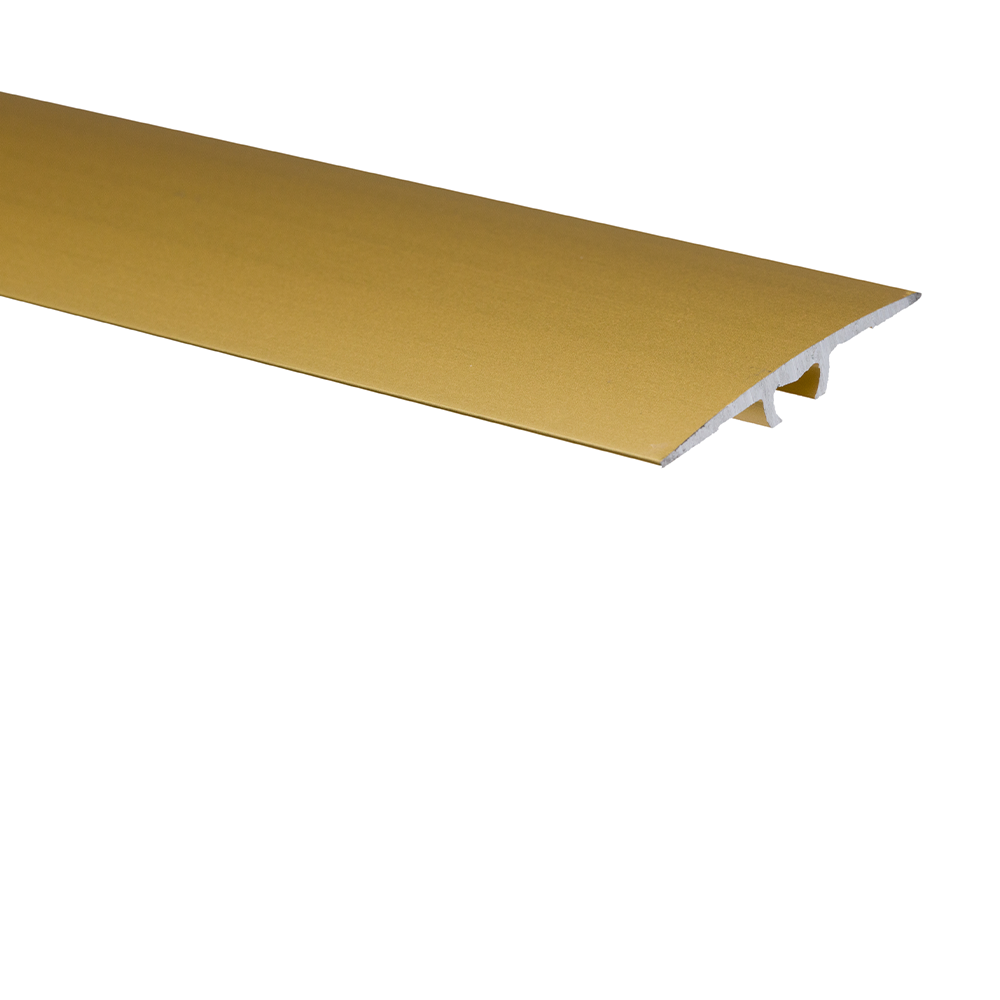 Profil de trecere cu surub mascat cu diferenta de nivel A68 Effector auriu, 2,7 m imagine MatHaus.ro