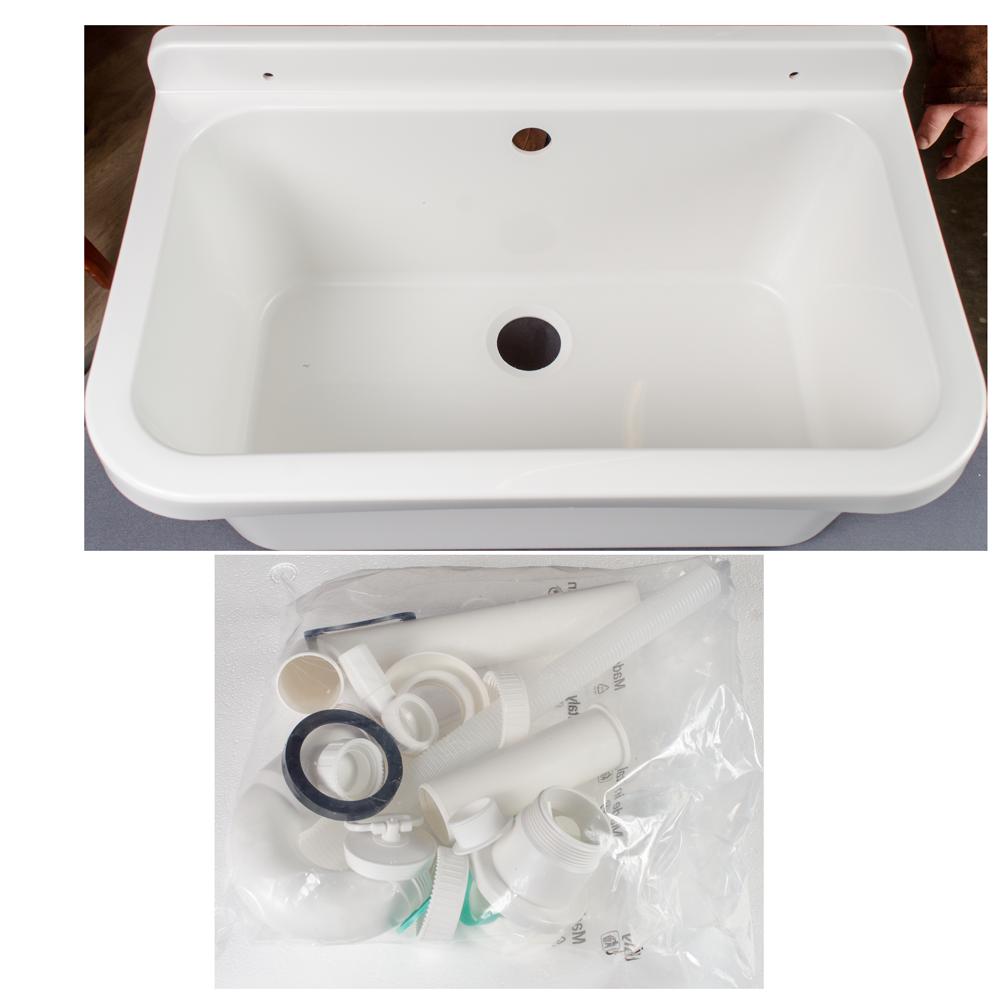 Lavoar Pilozzo, polipropilena, alb, adancime 21 cm, 55 x 34 cm imagine 2021 mathaus
