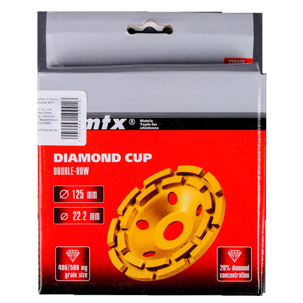 Disc Diamantat Cupa 125 mm Mtx Master imagine 2021 mathaus