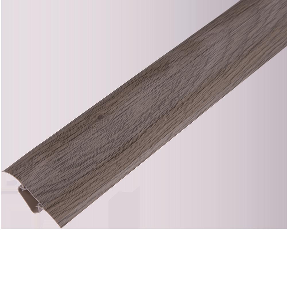 Plinta parchet, cu canal dublu, PVC, stejar sardinia, 250055x22.5 mm imagine MatHaus