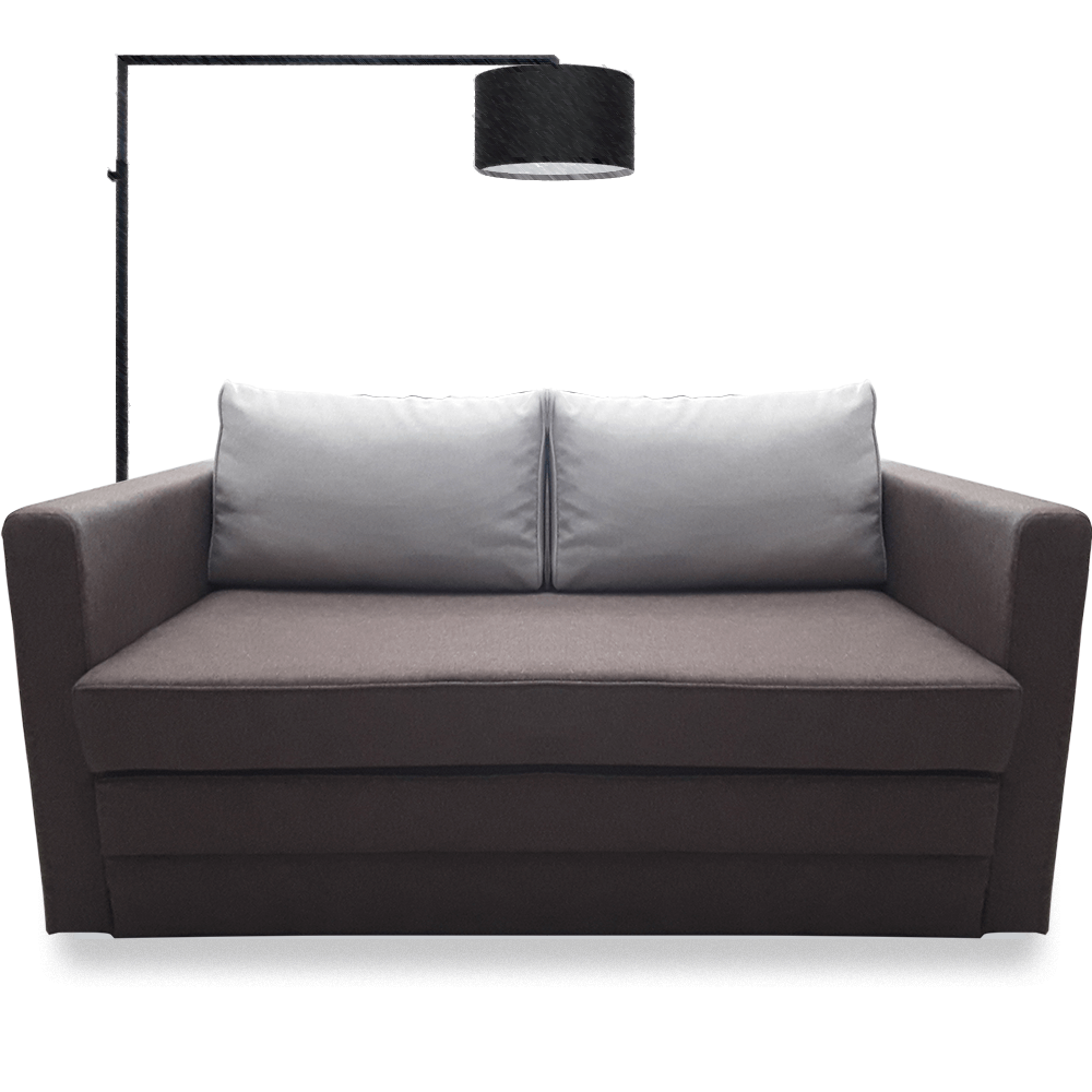 Canapea extensibila 2 locuri Young Brown & Beige, 2 perne, 135 x 62-80 x 75 cm imagine 2021 mathaus