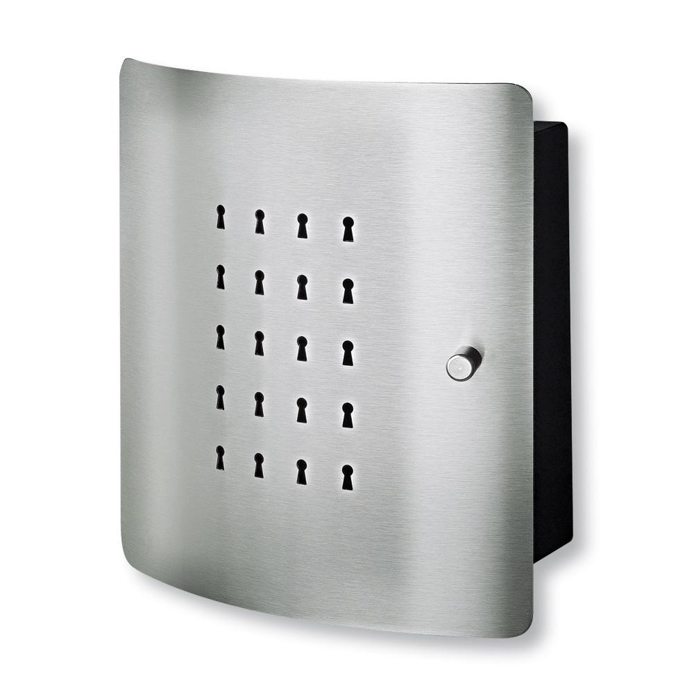 Cutie de chei cu usa din otel inoxidabil, Slot, 240 x 210 x 70 mm imagine MatHaus