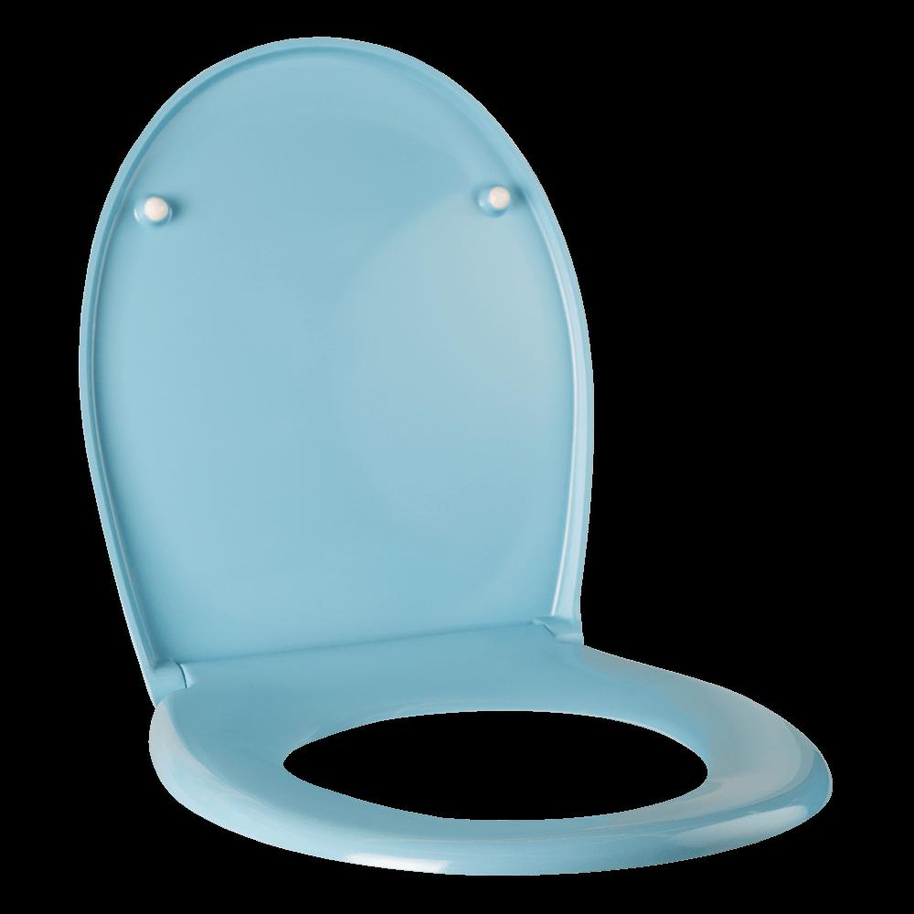 Capac pentru WC Romtatay Duroplast, bleu, 431 x 365 mm