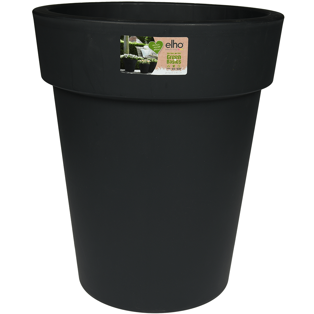 Ghiveci Top Planter, 35 cm, Negru imagine MatHaus.ro