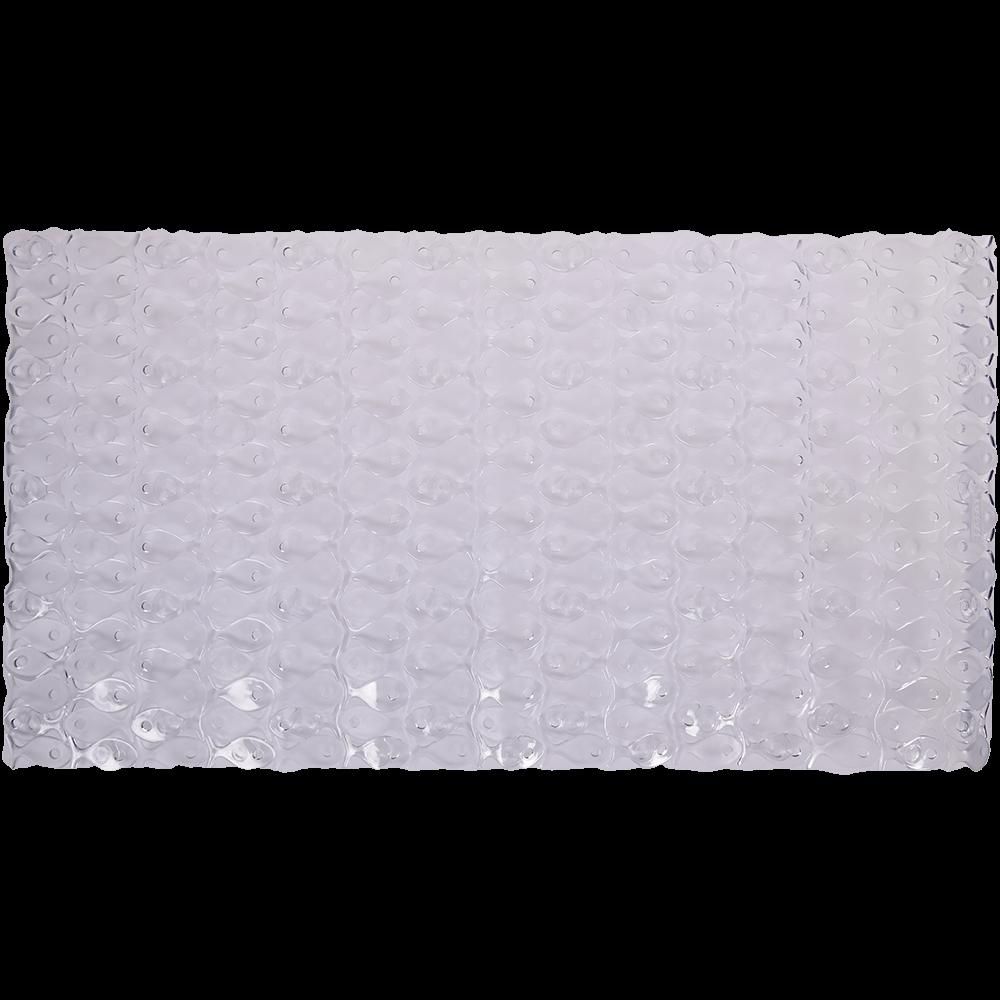 Covoras baie antiderapant, plastic, alb, 54 x 54 cm