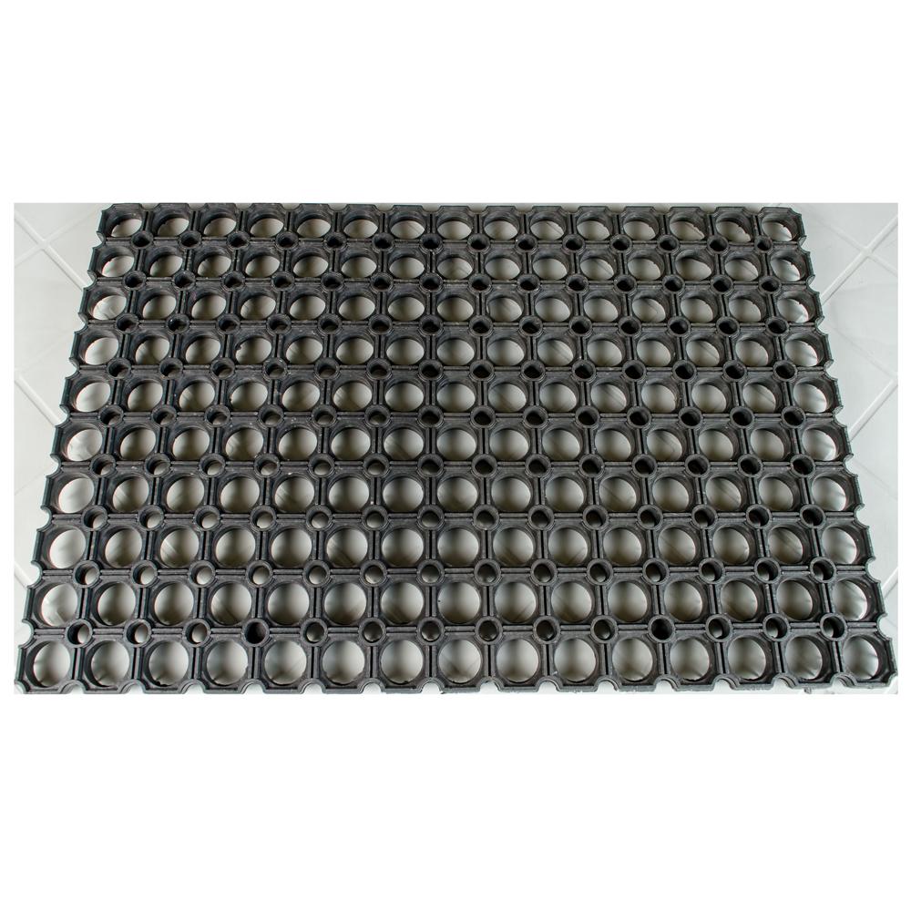 Stergator dreptunghiular Aniko, negru, din cauciuc, 40 x 60 cm mathaus 2021