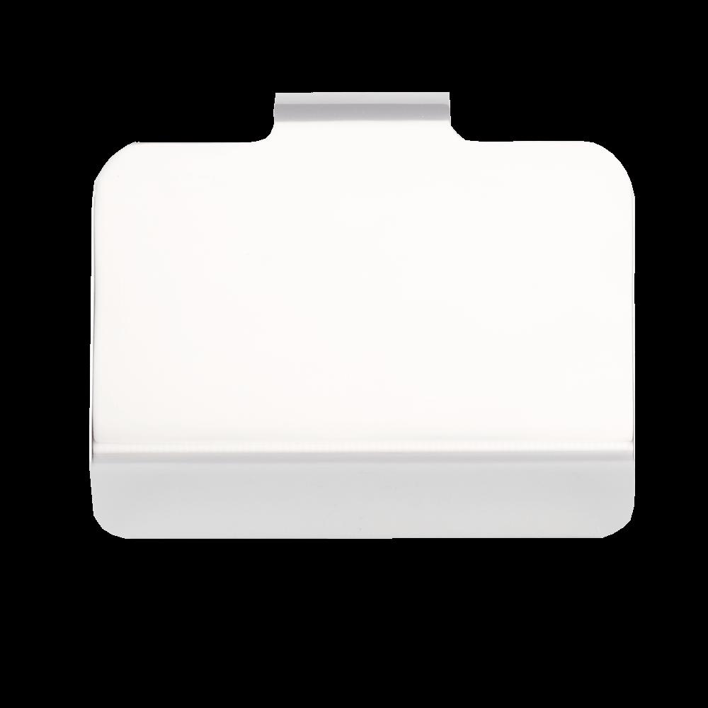 Suport hartie igienica Flat, metal, argintiu, 12 x 9 cm