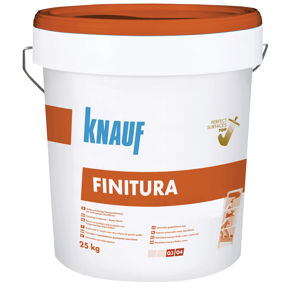 Glet Knauf Finitura, gata preparat, extrafin, 25 kg imagine 2021 mathaus