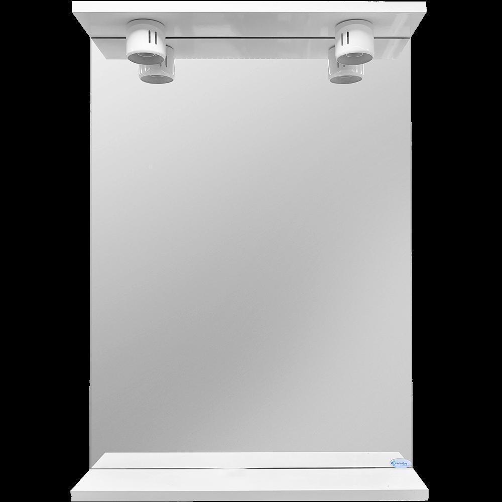 Oglinda baie Savini Due model 900E/00,  2 becuri, MDF, alb