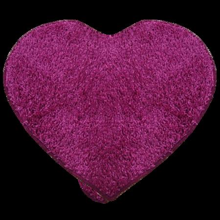 Covor modern Mistral, polipropilena, model inima roz 13, 80 cm