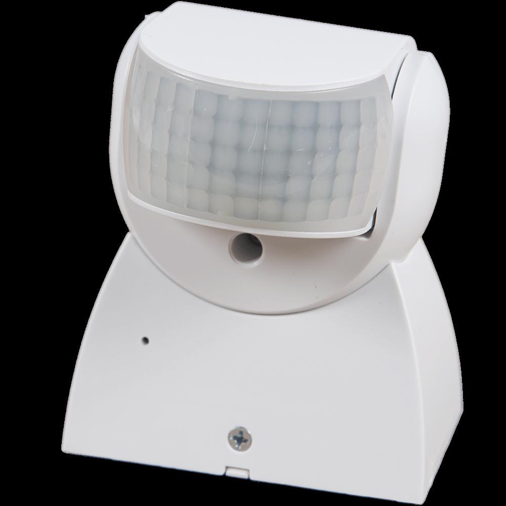 Senzor de miscare infrarosu, 180 grade, 1200 W, IP65, alb mathaus 2021