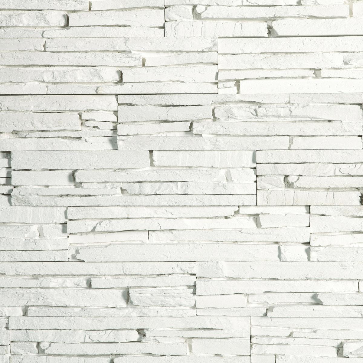 Piatra decorativa Modulo Oslo White interior, alb, 32,5 x 7,5 cm imagine 2021 mathaus