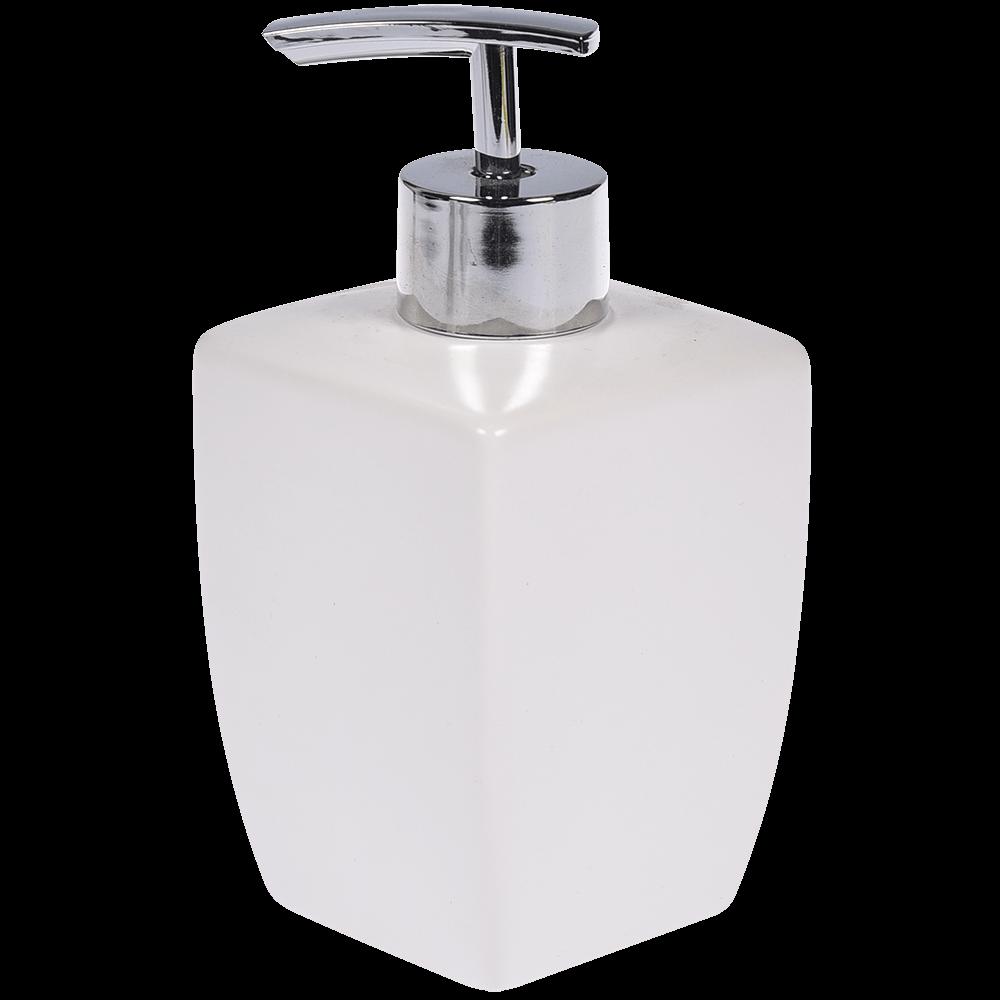Dozator sapun lichid Thai, ceramica, alb, 15 x 7 x 7 cm
