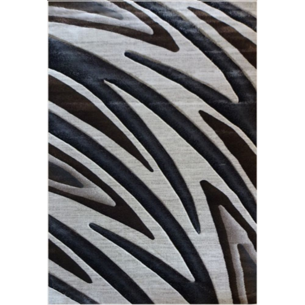 Covor modern Geo Hand Carved 7164, polipropilena heat set, model abstract bej/maro, 160 x 220 cm imagine MatHaus