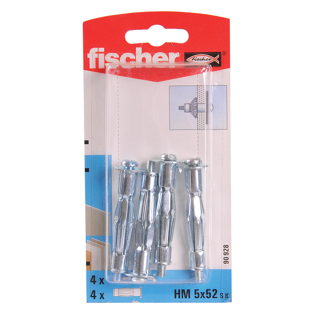 Diblu din metal cu surub, Fischer HM, 5 x 52 mm, 5 x 60 mm, 4 buc mathaus 2021