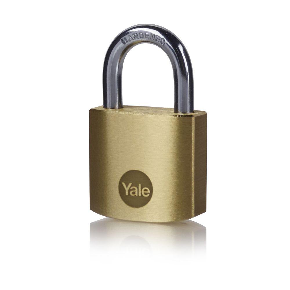 Lacat din alama, Yale Standard Protection, l 35mm, 3 chei imagine MatHaus.ro