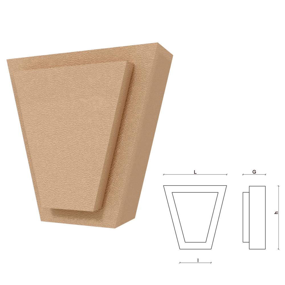 Chei de bolta FPCB03, polistiren EPS + rasina, design asimetric, 200 x 170 x 100 mm, crem mathaus 2021