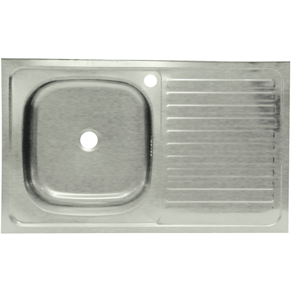 Chiuveta pentru masca Sanitec, inox 201, satinat, cuva stanga, adancime 10 cm, 80 x 50 cm imagine 2021 mathaus